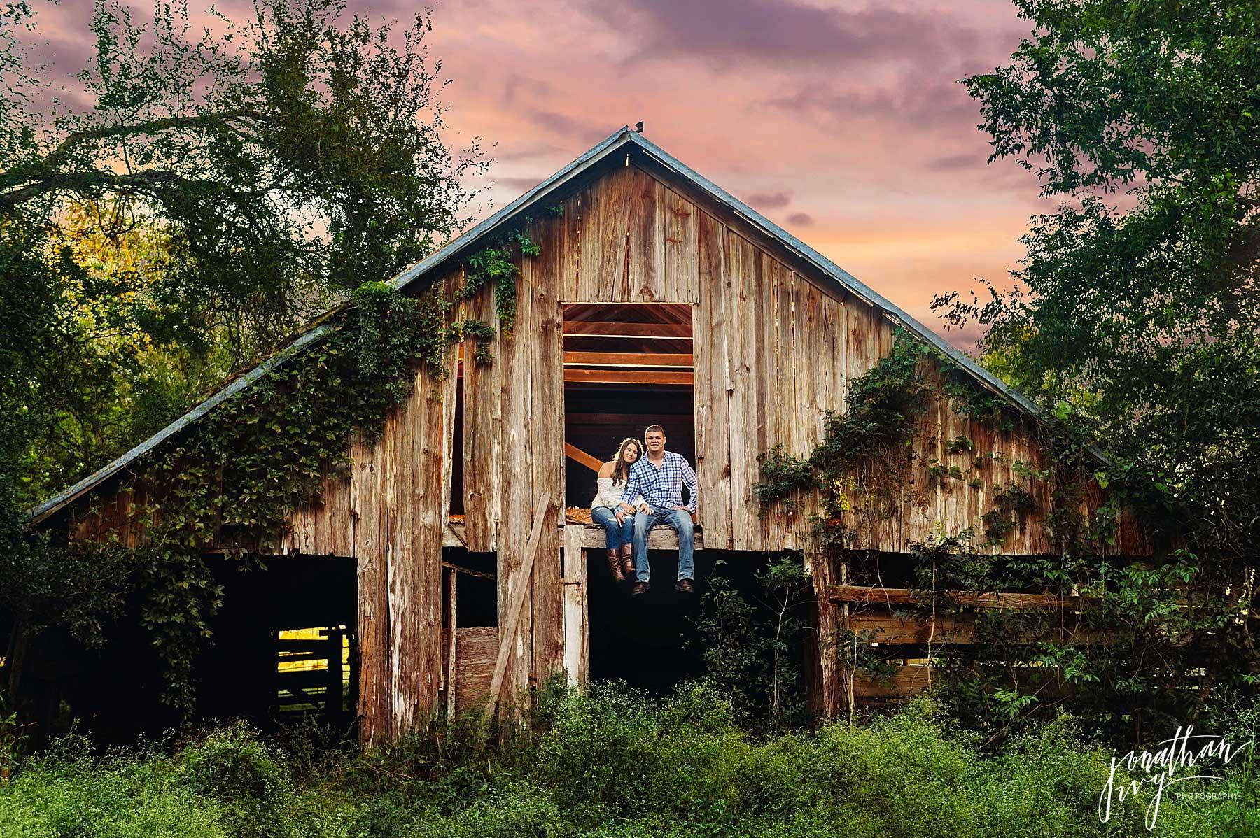 Rustic Barn Engagement In Houston