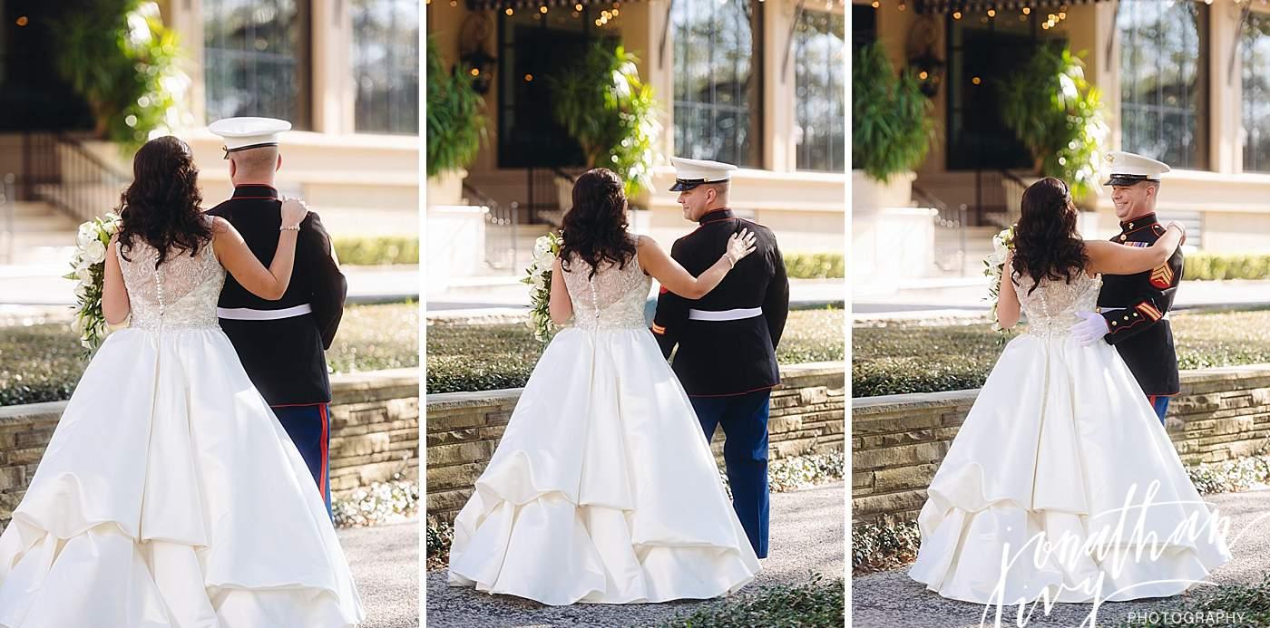Marine Dress Blues Wedding Atire