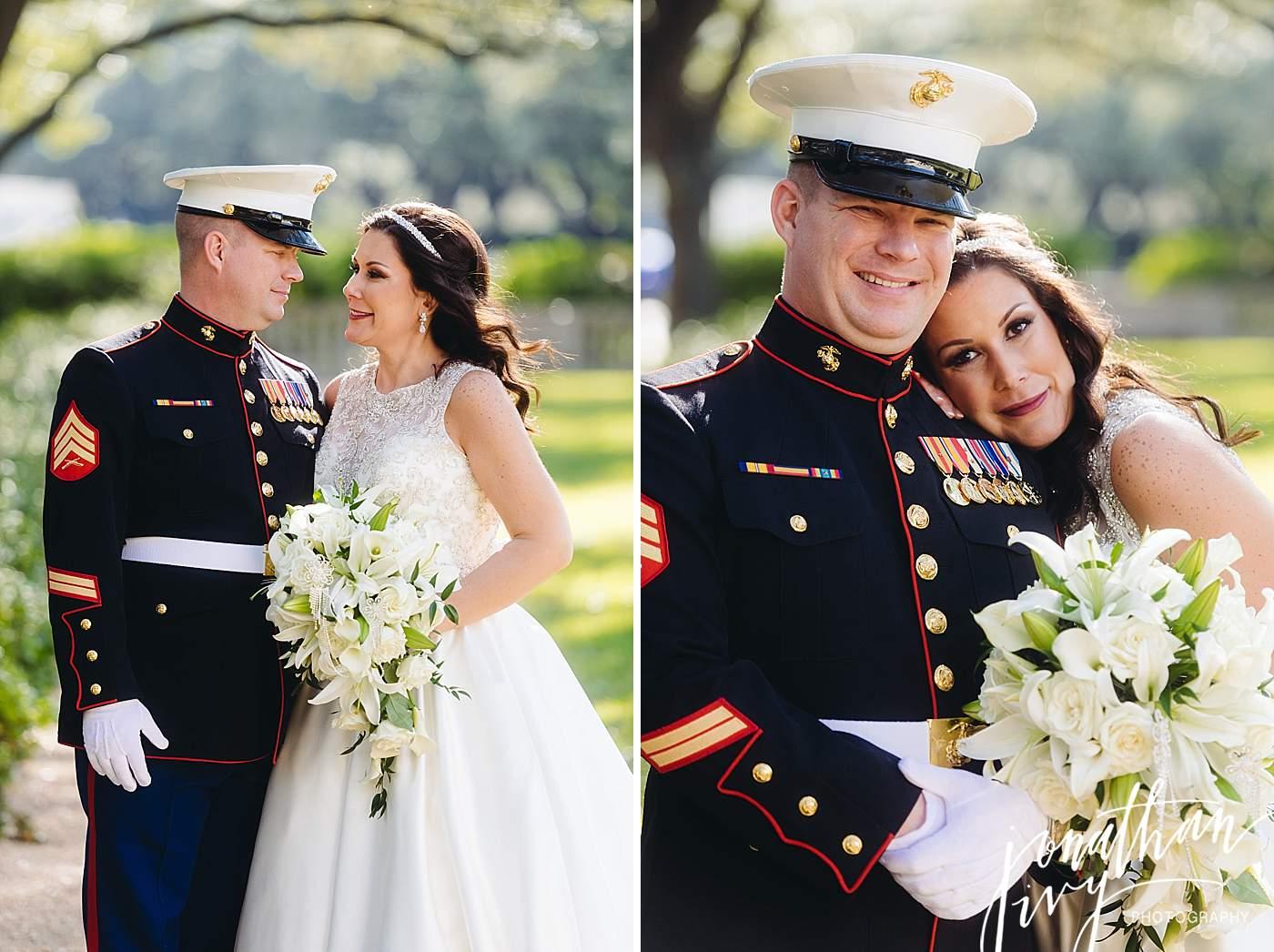 Military Bride and Groom Marines