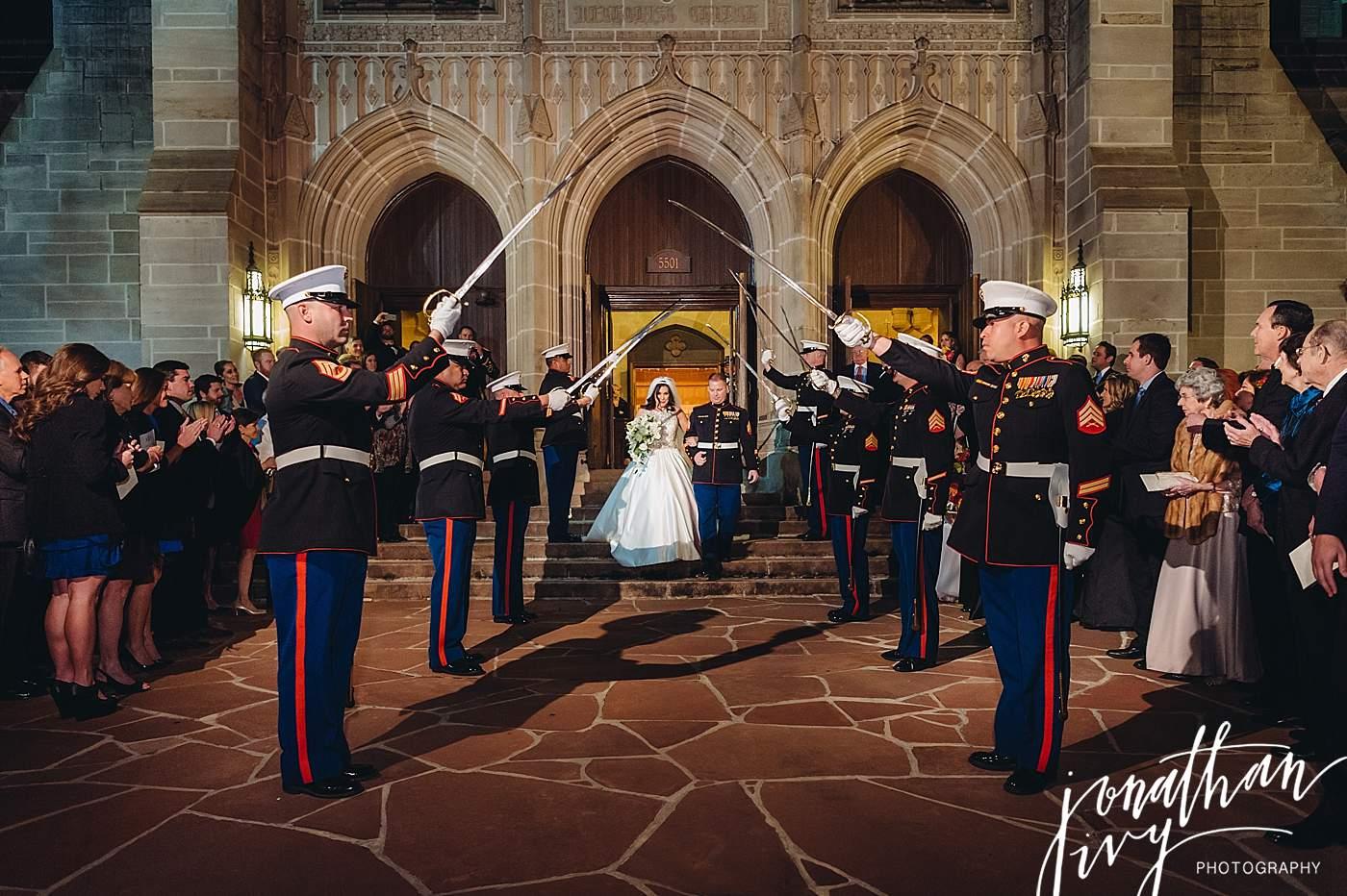 Marine Sword Detail Wedding Ceremony