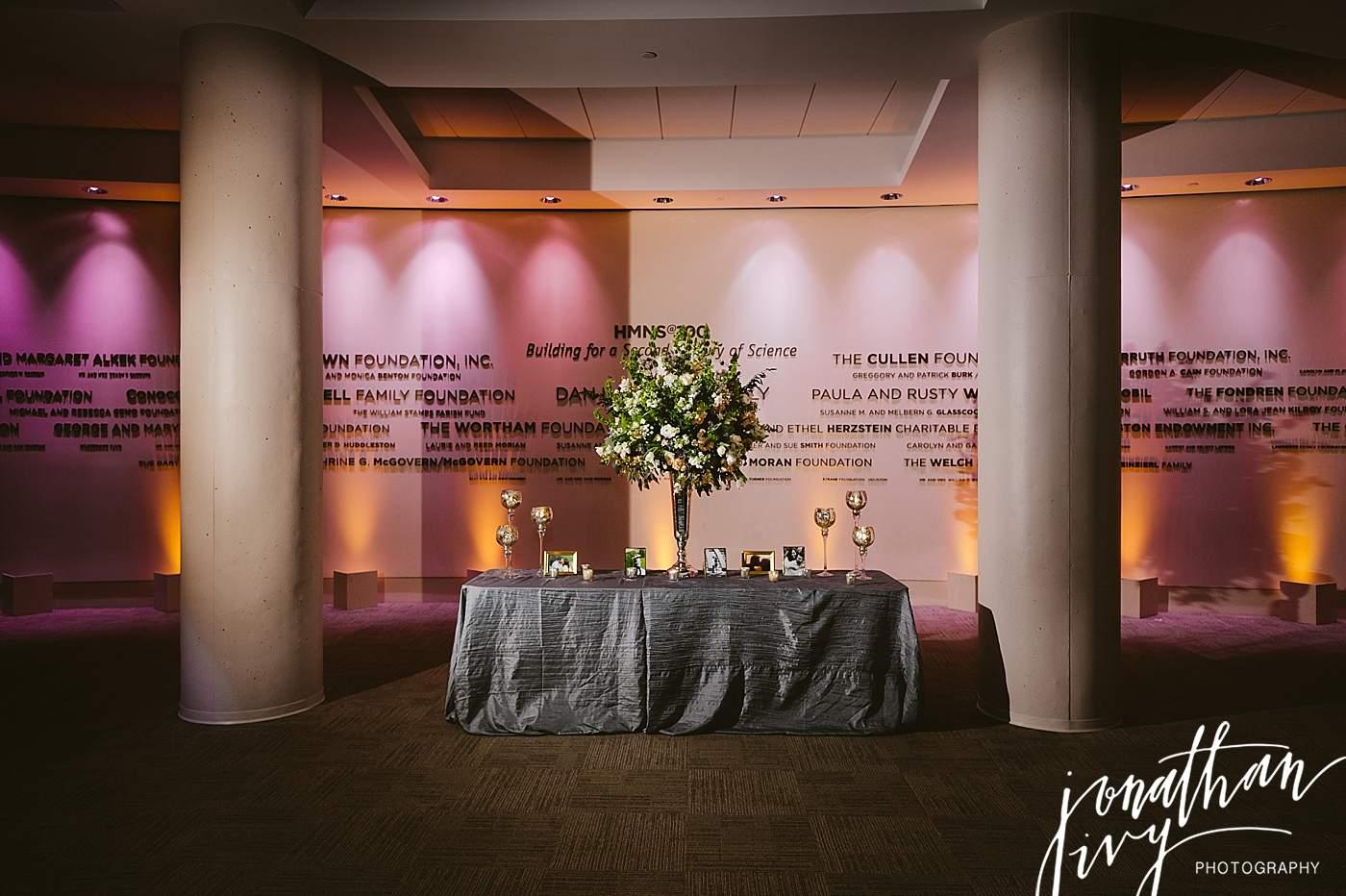 Wedding Reception at HMNS
