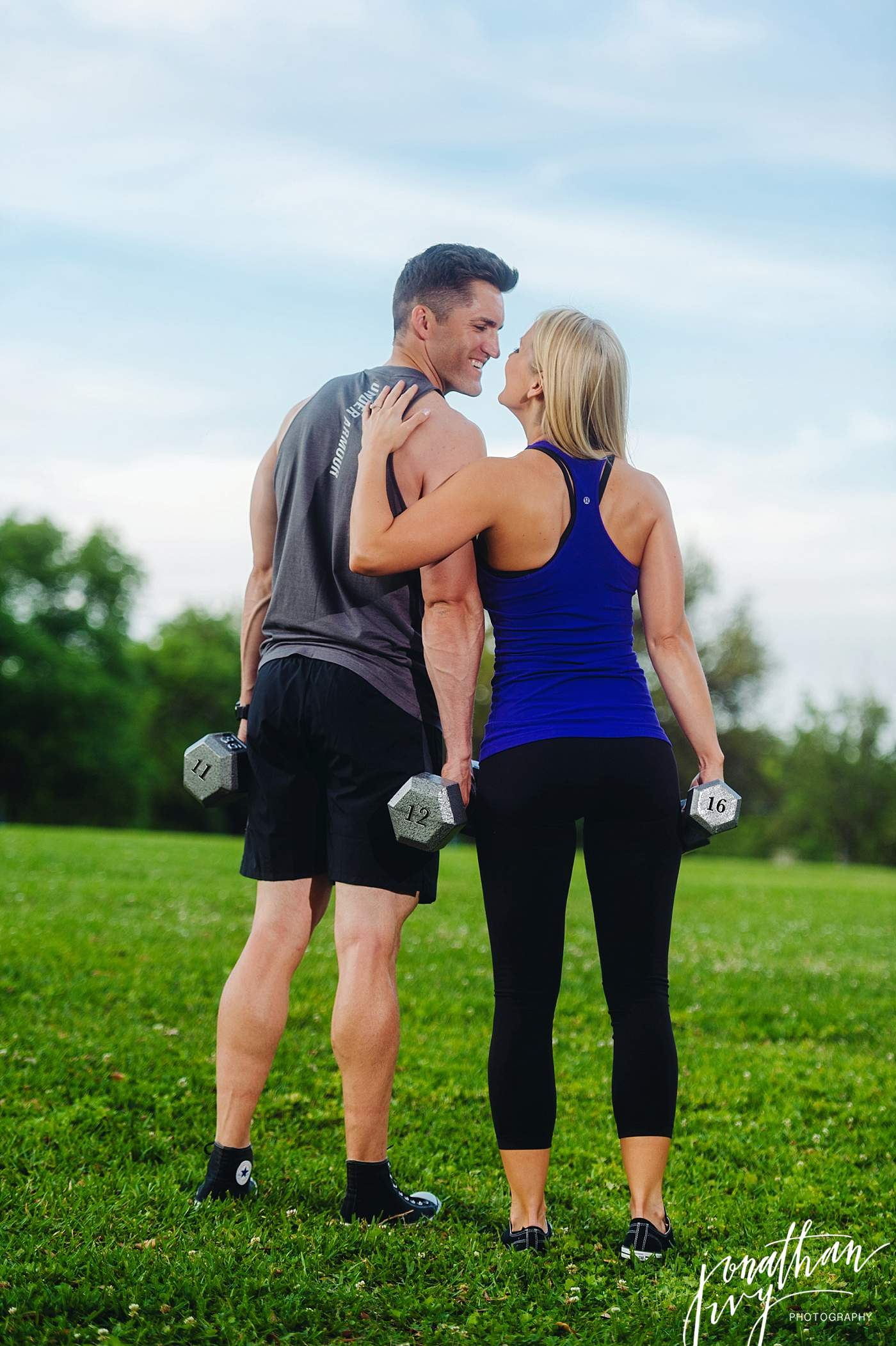 Fitspo Couple Engagement Photos