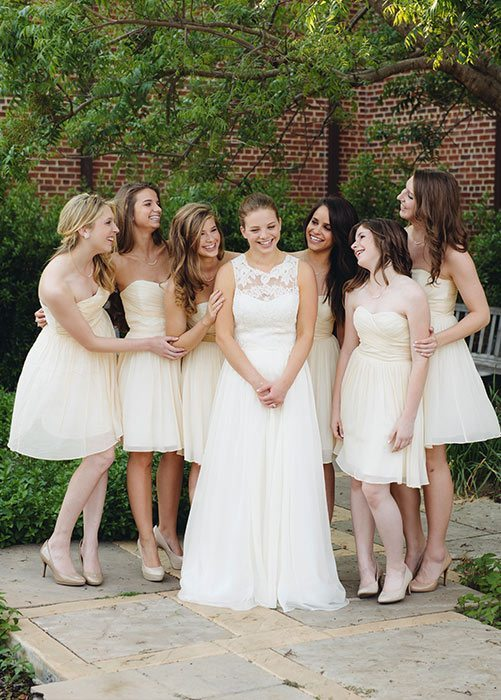 Light Yellow Bridesmaids Dresses