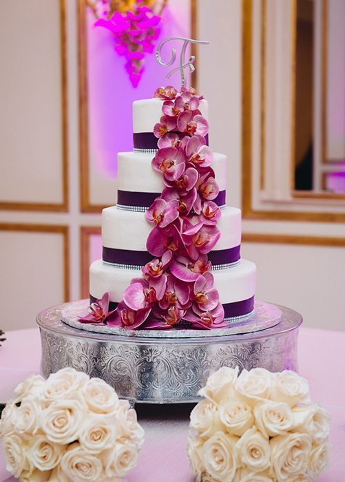 Purple Wedding Cake Photo