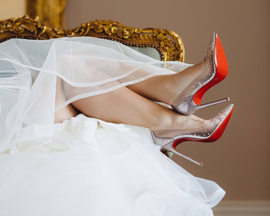 Red Bottom Shoes Bridal