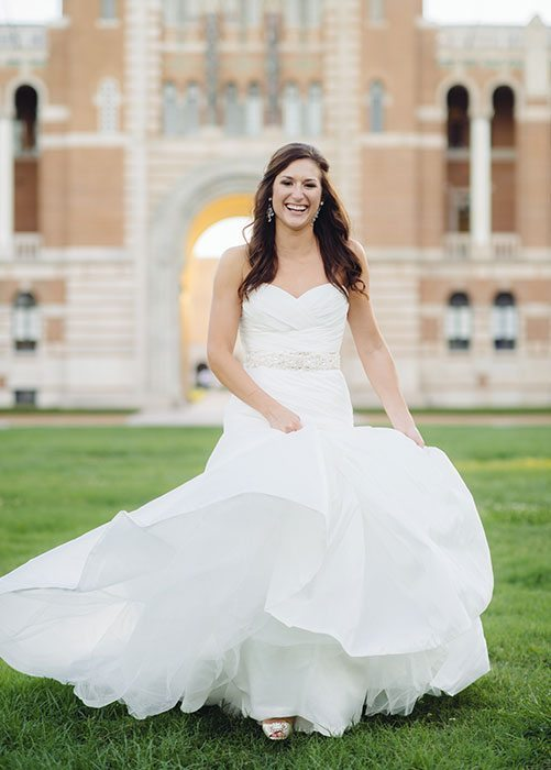 Rice University Bridal Photos