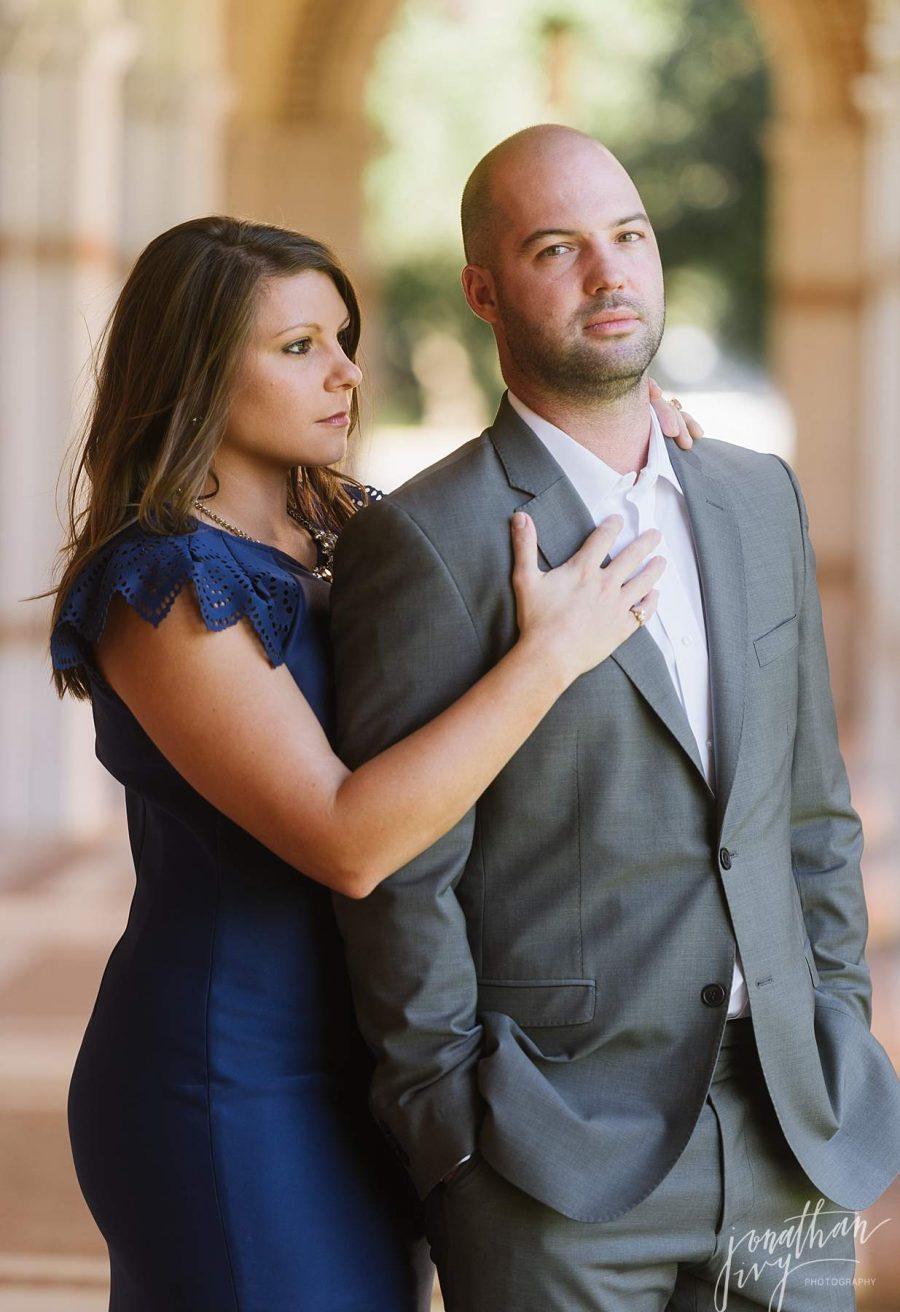 Stoic Engagement Photo Pose